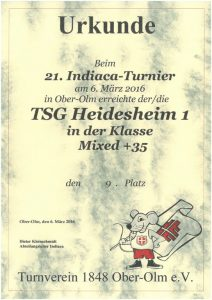 Mixed 35+, TSG Heidesheim 1